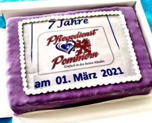 Pflegedienst Pommern Torte
